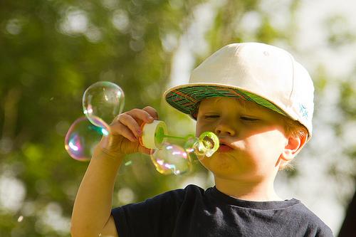 Soap bubbles in the sun