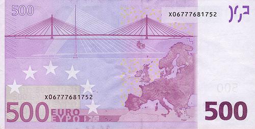 Europe : EU : 500 Euro : Reverse