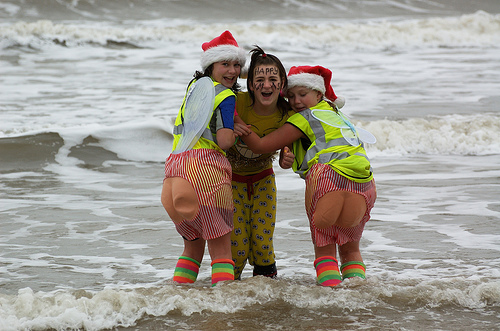 Christmas Day Swim @ South Beach, Lowestoft
