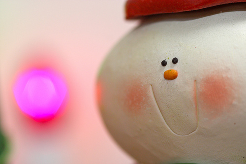 Christmas decorations - Snowman with red cheeks