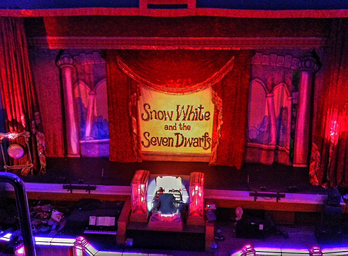 At Stockport Plaza, waiting for Snow White to begin...