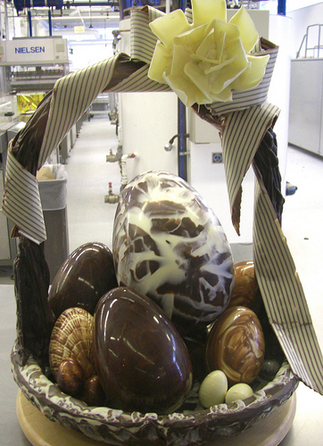 Chocolate Easter Egg Basket